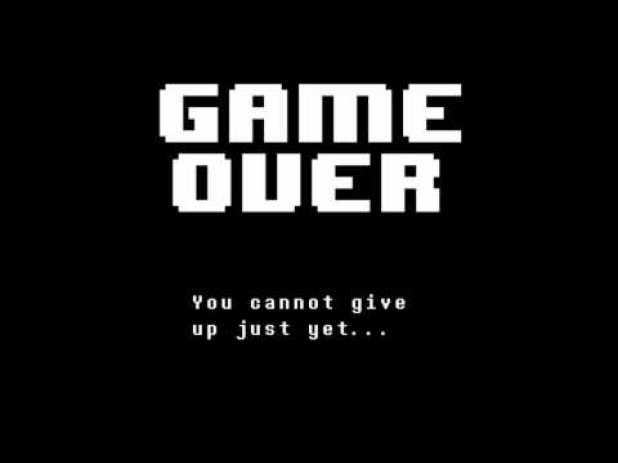 Undertale iOS Game Over
